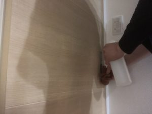トイレのドア消毒