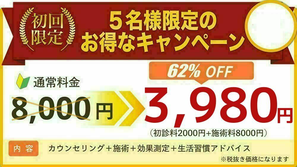 初回3980円